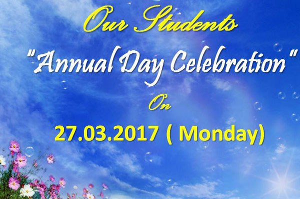 Annual Day Celebration, on 23 Mar 2017